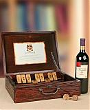 Wine Baskets: Antique Replica Pub Game with Merlot