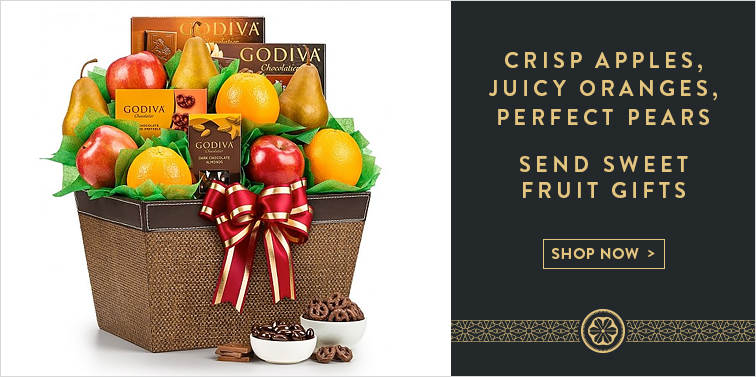Crisp Apples, Juicy Oranges, Perfect Pears. Send Sweet Fruit Gifts
