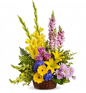 Funeral Flowers: Love's Tapestry Bouquet