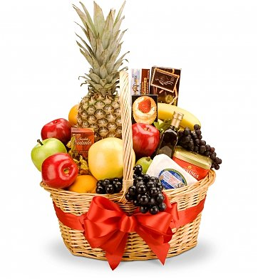 Food & Fruit Baskets: Mirth & Merriment Deluxe Basket