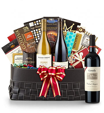 Luxury Wine Baskets: Groth Reserve Cabernet Sauvignon 2009- The Paramount Luxury Wine Basket