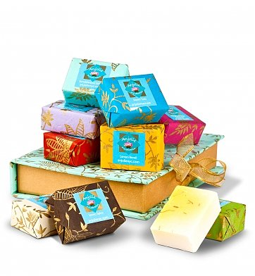 Spa Gift Baskets: Anjolie Soothing Spa Soaps
