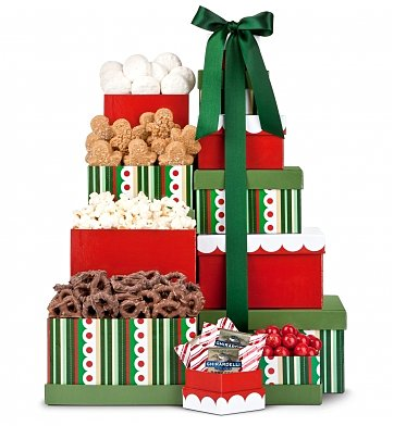 Gift Towers: Holly Jolly Gourmet Tower