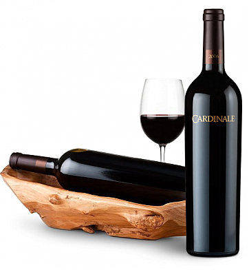 Wine Totes & Carriers: Root Presentation Bowl with Cardinale Cabernet Sauvignon 2006