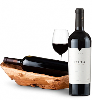 Wine Totes & Carriers: Root Presentation Bowl with Merryvale Profile