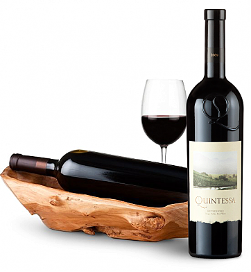 Wine Totes & Carriers: Root Presentation Bowl with Quintessa Meritage Red