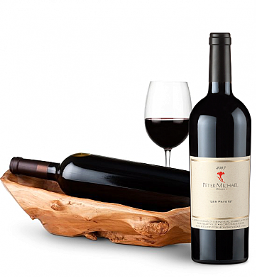 Wine Totes & Carriers: Root Presentation Bowl with Peter Michael Les Pavots 2007