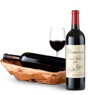 Wine Totes & Carriers: Root Presentation Bowl with Dominus 2008
