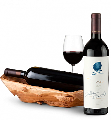 Wine Totes & Carriers: Root Presentation Bowl with Opus One 2009
