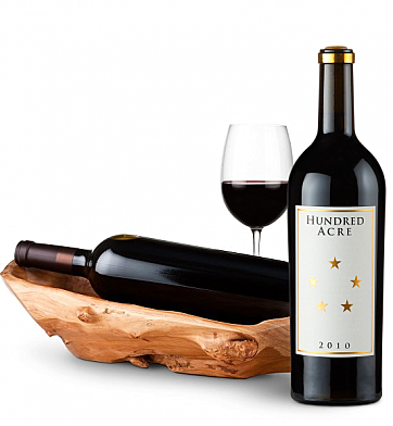 Wine Totes & Carriers: Root Presentation Bowl with Hundred Acre Ark Vineyard Cabernet Sauvignon 2010