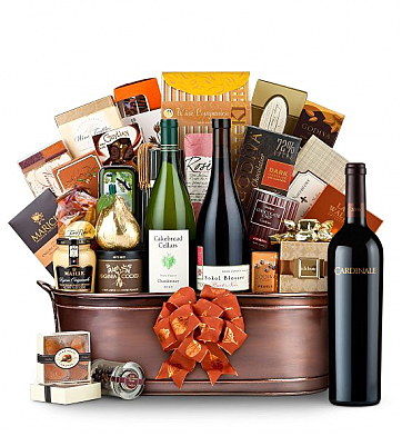 Premium Wine Baskets: The Hamptons Luxury Wine Basket-Cardinale Cabernet Sauvignon 2006