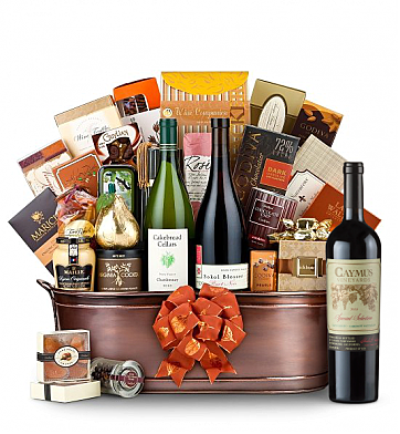 Premium Wine Baskets: The Hamptons Luxury Wine Basket-Caymus Special Selection 2009