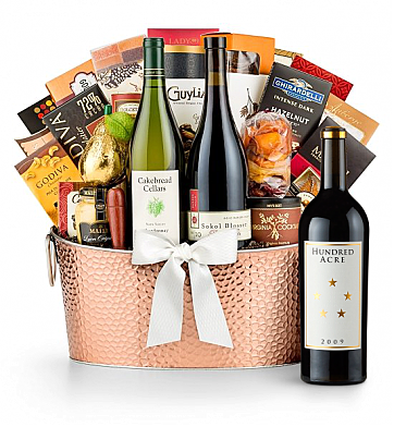 Premium Wine Baskets: The Hamptons Luxury Wine Basket-Hundred Acre Ark Vineyard Cabernet Sauvignon 2006