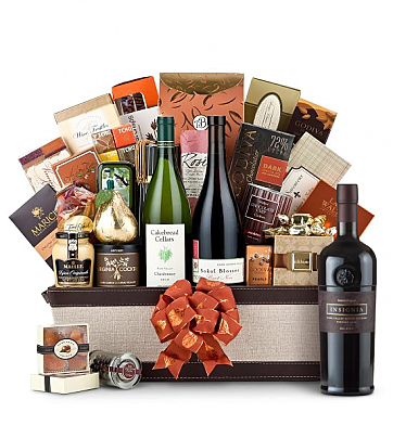 Premium Wine Baskets: The Hamptons Luxury Wine Basket-Joseph Phelps Napa Valley Insignia Red 2006
