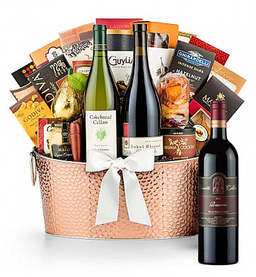 Premium Wine Baskets: The Hamptons Luxury Wine Basket-Leonetti Reserve Red 2009