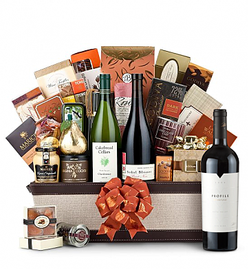 Premium Wine Baskets: The Hamptons Luxury Wine Basket-Merryvale Profile 2006