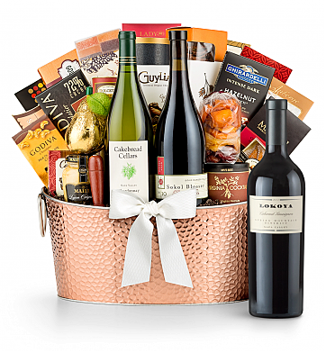 Premium Wine Baskets: The Hamptons Luxury Wine Basket-Lokoya Spring Mountain Cabernet Sauvignon 2007