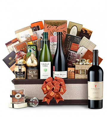 Premium Wine Baskets: The Hamptons Luxury Wine Basket-Peter Michael Les Pavots 2007