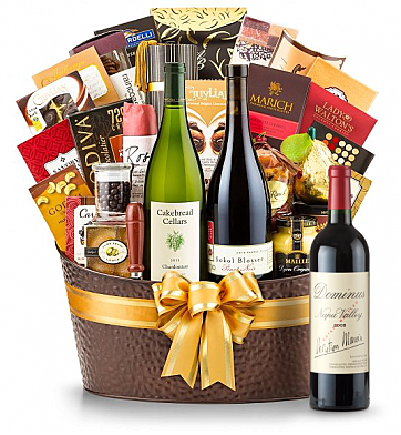 Premium Wine Baskets: Dominus Estate 2008 - The Hamptons Luxury Wine Basket