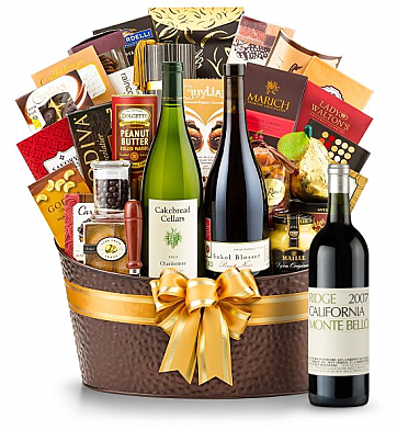 Premium Wine Baskets: Ridge Monte Bello 2007 - The Hamptons Luxury Wine Basket