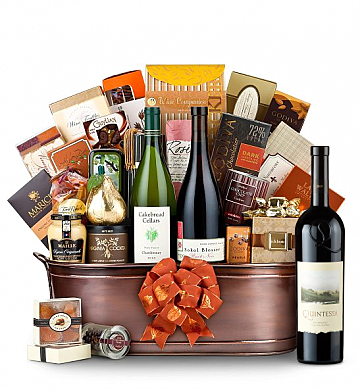 Premium Wine Baskets: The Hamptons Luxury Wine Basket-Quintessa Meritage Red 2009