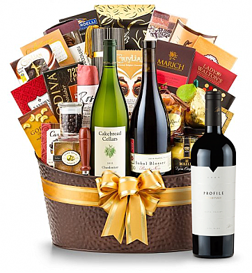 Premium Wine Baskets: The Hamptons Luxury Wine Basket-Merryvale Profile 2009