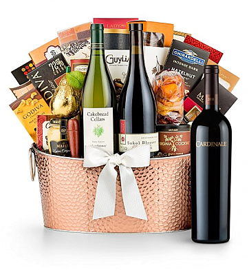 Premium Wine Baskets: The Hamptons Luxury Wine Basket-Cardinale Cabernet Sauvignon 2008