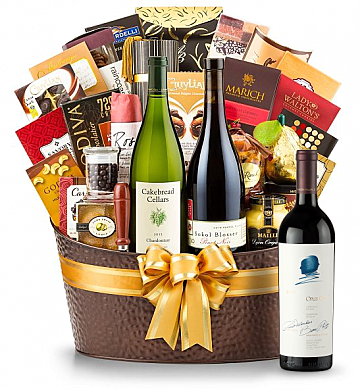 Premium Wine Baskets: The Hamptons Luxury Wine Basket-Opus One 2010