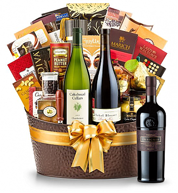 Premium Wine Baskets: The Hamptons Luxury Wine Basket- Joseph Phelps Insignia Red 2010