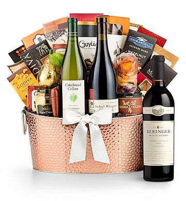 Premium Wine Baskets: Beringer Private Reserve Cabernet Sauvignon 2010 - The Hamptons Luxury Wine Basket