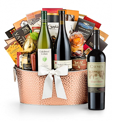 Premium Wine Baskets: The Hamptons Luxury Wine Basket - Caymus Special Selection Cabernet Sauvignon 2009