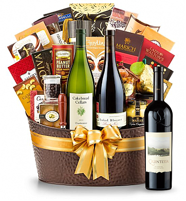 Premium Wine Baskets: The Hamptons Luxury Wine Basket - Quintessa Meritage Red 2010