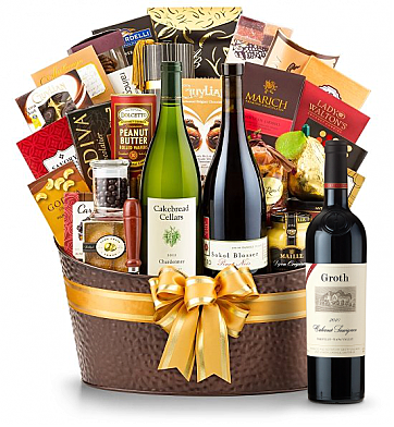 Premium Wine Baskets: The Hamptons Luxury Wine Basket-Groth Cabernet Sauvignon 2010