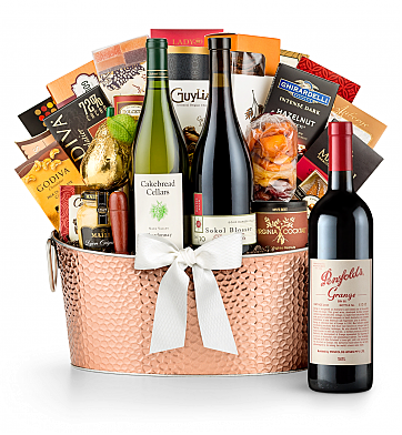 Premium Wine Baskets: Penfolds Grange 2010 - The Hamptons Luxury Wine Basket