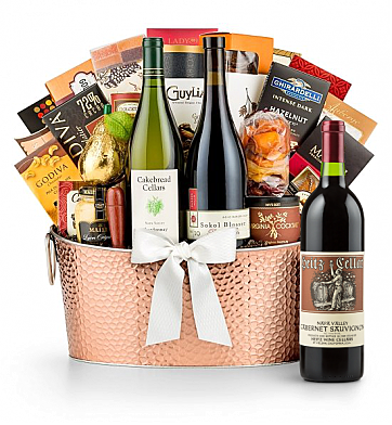 Premium Wine Baskets: Heitz Cellars Napa Valley Cabernet 2011 - The Hamptons Luxury Wine Basket