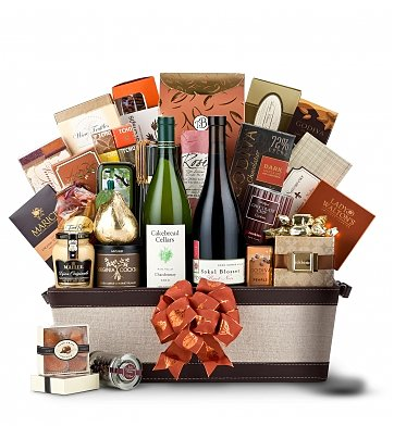 Premium Wine Baskets: The Hamptons Luxury Wine Basket