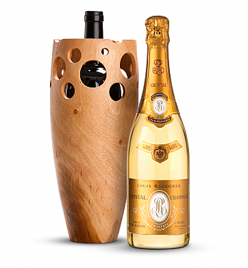 Wine Accessories & Decanters: Louis Roederer Cristal Brut 2008 with Handmade Wooden Vase