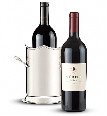 Wine Totes & Carriers: Double-Handled Luxury Wine Holder with Verite La Joie 2006 Cabernet Sauvignon