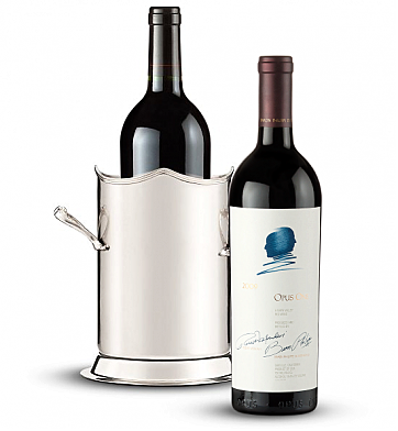 Wine Totes & Carriers: Double-Handled Luxury Wine Holder with Opus One 2009