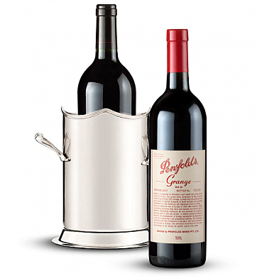 Wine Totes & Carriers: Double-Handled Luxury Wine Holder with Penfolds Grange 2007