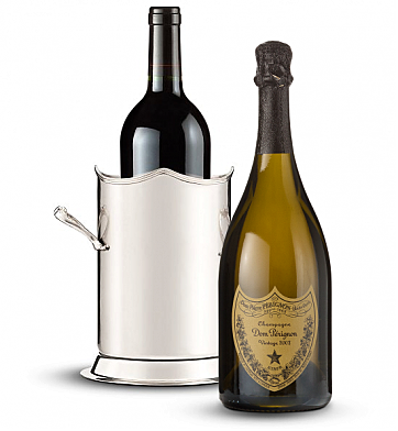 Wine Totes & Carriers: Double-Handled Luxury Wine Holder with Dom Perignon 2003