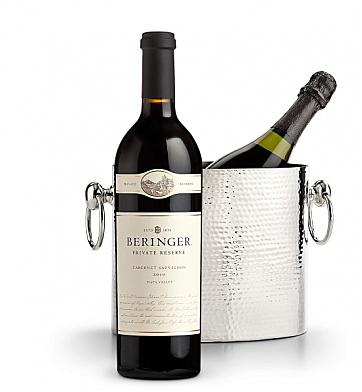 Wine Accessories & Decanters: Beringer Private Reserve Cabernet Sauvignon 2010 with Luxury Wine Chiller