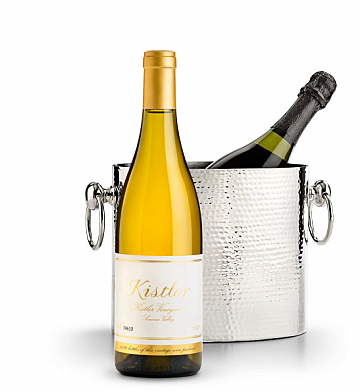 Wine Accessories & Decanters: Kistler Vineyard Chardonnay Sonoma Valley 2013 with Luxury Wine Chiller