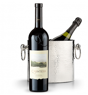 Wine Accessories & Decanters: Quintessa Meritage Red 2013 with Luxury Wine Chiller