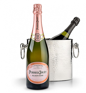 Wine Accessories & Decanters: Perrier-Jouet Blason Rose with Luxury Wine Chiller