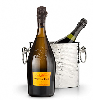 Wine Accessories & Decanters: Veuve Clicquot La Grande Dame Champagne 2004 with Luxury Wine Chiller