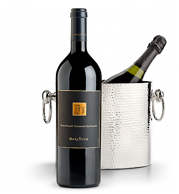 Wine Accessories & Decanters: Darioush Signature Cabernet Sauvignon 2014 with Luxury Wine Chiller