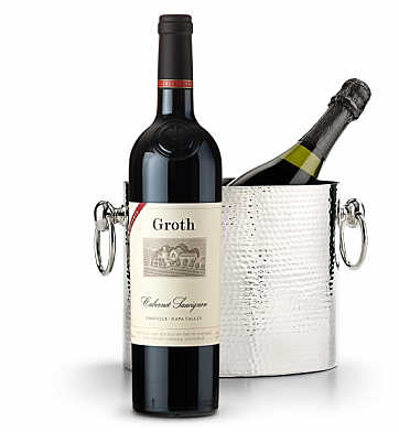 Wine Accessories & Decanters: Groth Reserve Cabernet Sauvignon 2013 with Luxury Wine Chiller