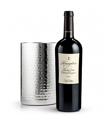 Wine Accessories & Decanters: Hourglass Blueline Estate Cabernet Sauvignon 2013 with Double Walled Wine Chiller