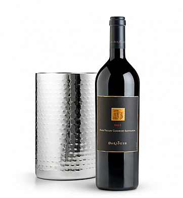 Wine Accessories & Decanters: Darioush Signature Cabernet Sauvignon 2013 with Double Walled Wine Chiller